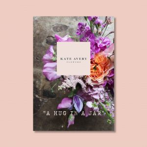 beautiful on-brand pdf design for Kate Avery Flowers by Kerri Awosile
