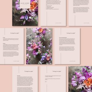 Clean and simple PDF design for Kate Avery Flowers by Kerri Awosile