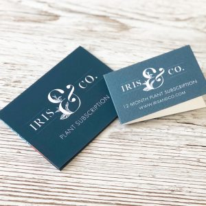 Gift card and wallet design for Iris & Co by Kerri Awosile