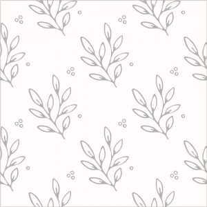 Leaf and dots line-art pattern design by Kerri Awosile